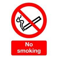Safety Sign - No Smoking - A5 Self-Adhesive Vinyl