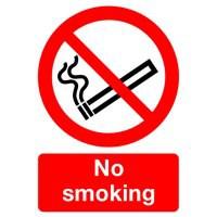 Safety Sign No Smoking A4 Self-Adhesive ML02079S