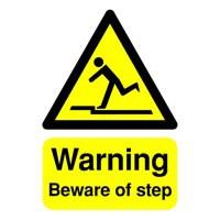 Safety Sign Warning Beware Of Step A5 Self-Adhesive HA21451S