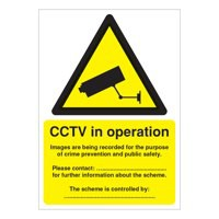 Warning Sign Data Protection Act-Compliant CCTV A5 PVC DPACCTVR