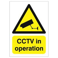 Warning Sign CCTV In Operation - A5 Rigid Polypropylene GN00751R