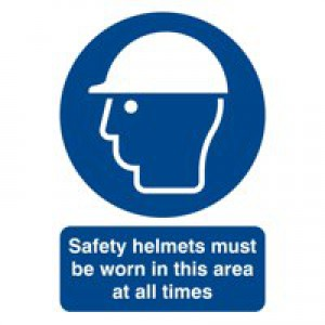 Safety Sign Safety Helmets Must be Worn A4 PVC MA04650R