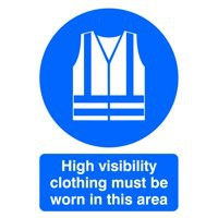 Safety Sign Hi-Vis Clothing Must be Worn A4 PVC MA02150R