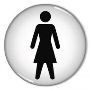General Domed Sign Women Symbol 60mm RDS1