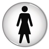 General Sign Women Symbol 60mm RDS1