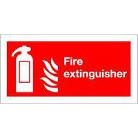 Safety Sign Fire Extinguisher Symbol 100x200mm Self Adhesive Code F16D/S