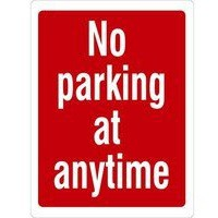 Safety Sign No Parking At Any Time 400x300mm PDF10