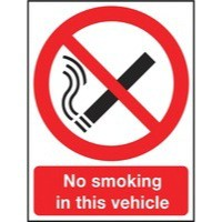 Safety Sign 210x148mm No Smoking It is against the law to smoke in these premises PVC Code
