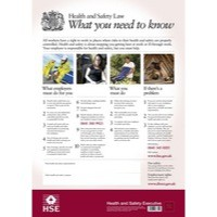 New Health and Safety Law Poster 595x415mm FWC30