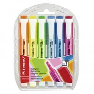 Stabilo Swing Cool Highlighter Pen Wallet of 6 Assorted 275/6