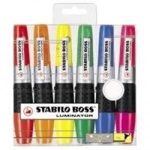 Stabilo Luminator Highlighter Pen Wallet of 6 Assorted 71/6
