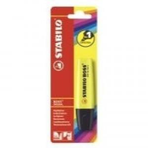 Stabilo Boss Highlighter Pen Yellow Single Blister Pack B-10129
