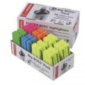 Stabilo Boss Highlighter Pen Pack of 48 Yellow/Blue/Green/Pink/Orange 70/48-1