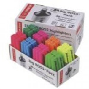 Stabilo Big Boss Highlighter Pen Pack of 48 Assorted 70/48-2