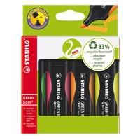 Stabilo Greenboss Highlighter Pen Wallet of 4 Assorted 6070/4