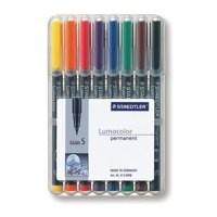 Image for Staedtler Lumocolor Superfine Tip Permanent Pen Wallet of 8 313-WP8