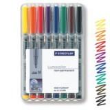 Staedtler Lumocolor Medium Tip Water Soluble Pen Wallet of 8 315-WP8
