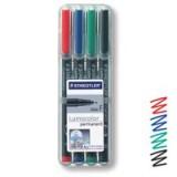 Staedtler Lumocolor Fine Tip Permanent Pen Wallet of 4 318-WP4