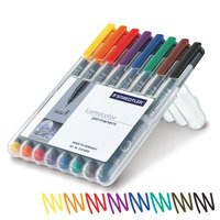 Staedtler Lumocolor Fine Tip Permanent Pen Wallet of 8 318-WP8