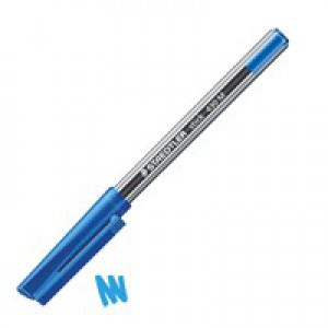 Staedtler Stick Ballpoint Pen Medium Blue 430-M3