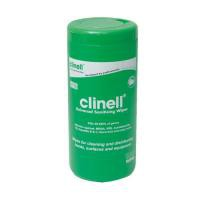 Image for Clinell Universal Sanitising Wipes Pack 100 x 8 GCWTUB100