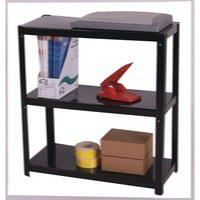 Storage Solutions Light Duty Boltless 3-Shelf Unit Black ZZLS3BK076B07030