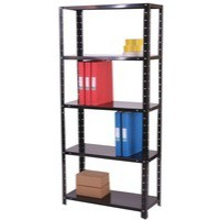 Storage Solutions Light Duty Bolted 5-Shelf Unit Black ZZBS5BK150C07030