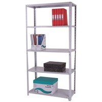 Storage Solutions Medium Duty Bolted 5-Shelf Unit D400mm Grey ZZBS5GR180C09040