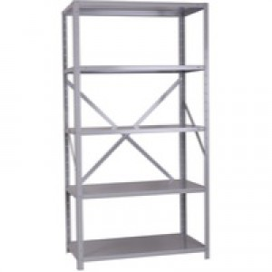 Storage Solutions Heavy Duty Bolted 5-Shelf Unit D500mm Grey ZZHS5GR200A10050