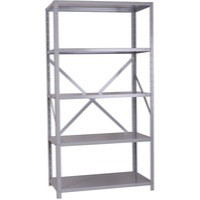 Storage Solutions Heavy Duty Bolted 5-Shelf Unit D600mm Grey ZZHS5GR200A10060