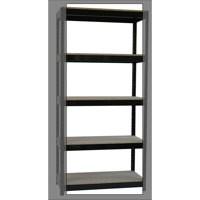 Storage Solutions 2-Shelf Lever Arch File Unit Black ZZHT2BK098A10630