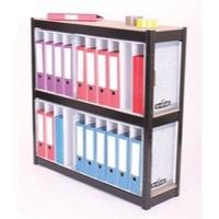 Storage Solutions 3-Shelf Lever Arch File Unit Black ZZHT3BK102A10630