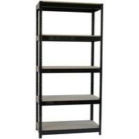 Storage Solutions Heavy Duty Boltless 5-Shelf Unit Black