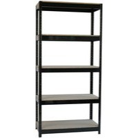 Storage Solutions Heavy Duty Boltless 5-Shelf Unit Black