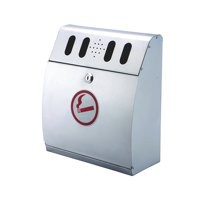 Sterling Ash Bin Wall Mounted Curved SB042S