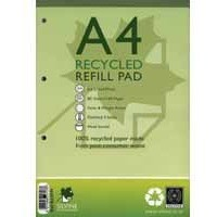 Silvine Refill Pad A4 Punched 4-Hole Recycled Ruled Feint and Margin RE4FM-T