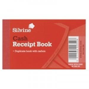Silvine Duplicate Receipt Book 63x106mm Gummed Pk36 228