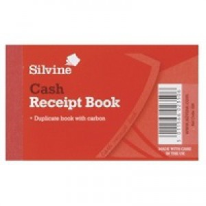 Silvine Duplicate Receipt Book 2.5x4 inches Gummed 228