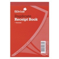 Image for Silvine Duplicate Receipt Book 4x5.25 Inches Gummed 230