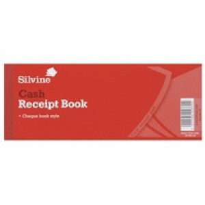 Silvine Receipt Book 3x8 inches with Counterfoil 233