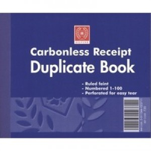 Silvine Carbonless Duplicate Receipt Book 4.125x5 inches 720-T