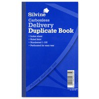 Silvine Carbonless Duplicate Delivery Book Blue 713