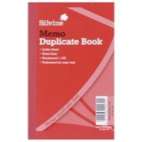 Silvine Duplicate Book 152x102mm Memo Ruled Pk12 600