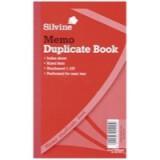 Silvine Duplicate Book 8.25x5 inches Memo 601