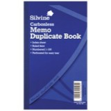 Silvine Carbonless Duplicate Book 8.3x5 inches Memo NCR 701-T