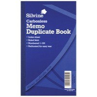 Image for Silvine Carbonless Duplicate Book 8.3x5 Inches Memo NCR 701-T