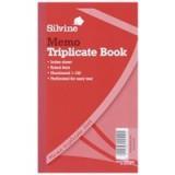 Silvine Triplicate Book 8.1x5 inches Memo 605