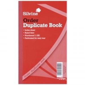 Silvine Duplicate Book 8.25x5 inches Order 610