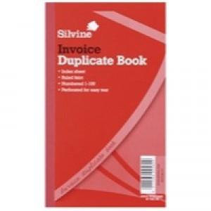 Silvine Duplicate Book 8.3x5 Inches Invoice 611