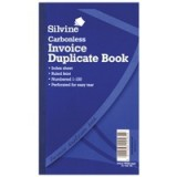 Silvine Carbonless Duplicate Book 8.25x5 inches Invoice 711-T